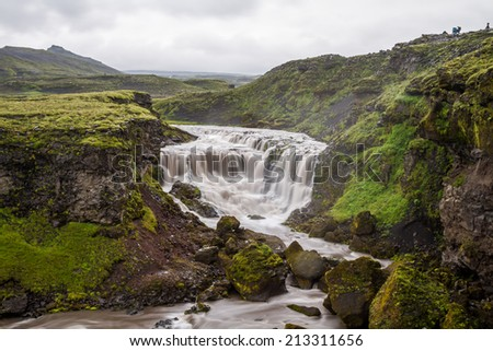 iceland river - long exposure - stock photo