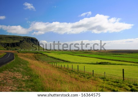 Icelandic country landscape.