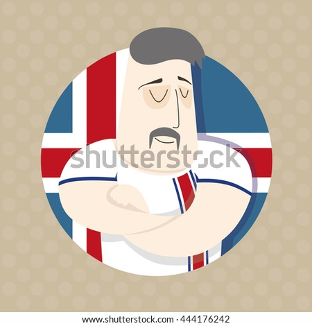 Icelandic football player  - stock photo