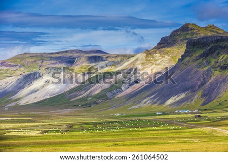 Icelandic landscapes  - stock photo