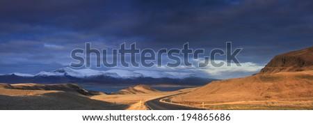 Icelandic Road./ Icelandic Road. - stock photo