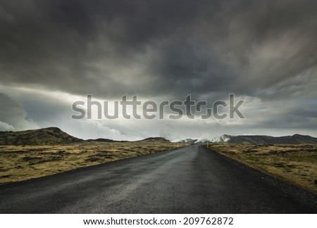 Icelandic Road./Icelandic Road - stock photo