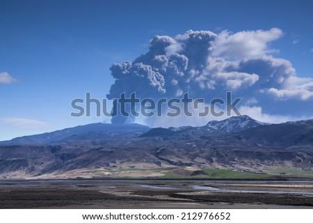 Icelandic Volcano Eruption./ Icelandic Volcano Eruption. - stock photo
