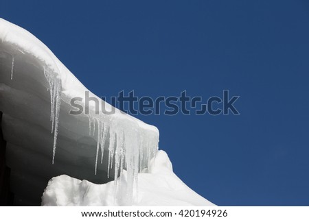 Icicle and blue sky