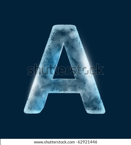 Icing alphabet the letter A - stock photo