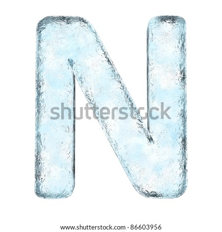Icing alphabet the letter N (High definition isolated on white) - stock photo