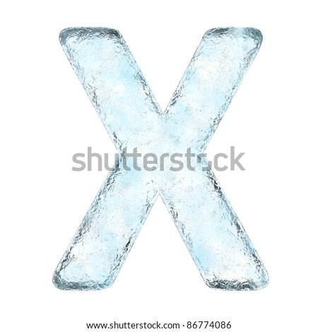 Icing alphabet the letter X (High definition isolated on white) - stock photo