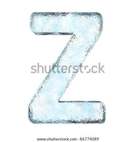 Icing alphabet the letter Z (High definition isolated on white) - stock photo