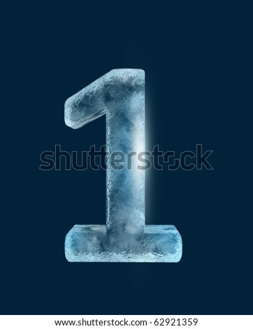 Icing alphabet the number 1 - stock photo