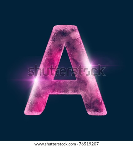 Icing alphabet the red letter A - stock photo
