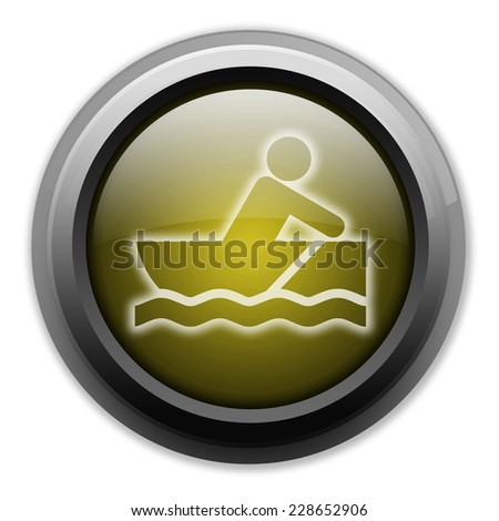 Icon, Button, Pictogram with Rowboating symbol