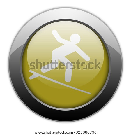 Icon, Button, Pictogram with Surfing symbol