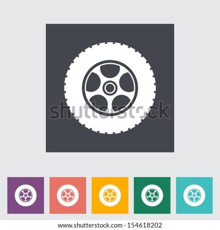 Icon car wheel.  - stock photo
