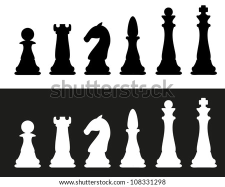 icon chess pieces illustration