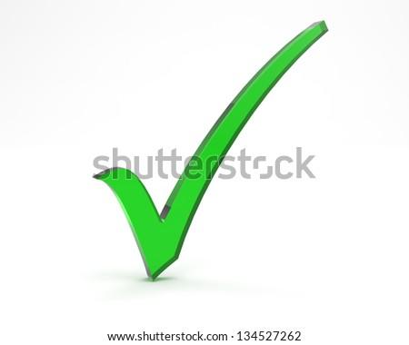icon correct 3d man - stock photo