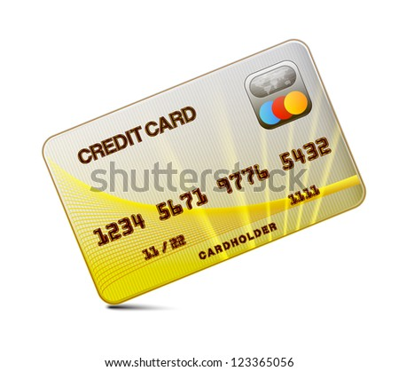 icon Credit card on  white background - stock photo