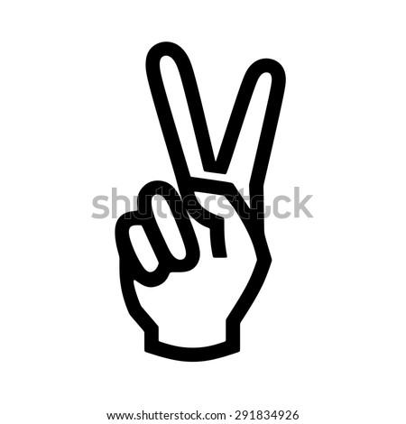 hand gesture peace sign stock vector 304295063 shutterstock