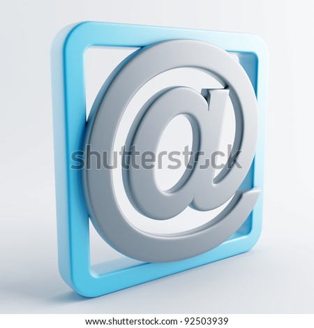 Icon in gray-blue color on a white background - stock photo