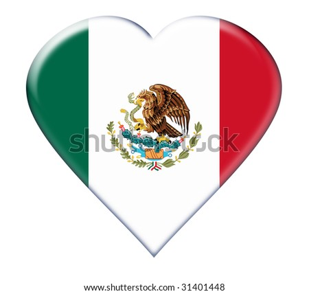 Icon of Mexico. Illustration over white background