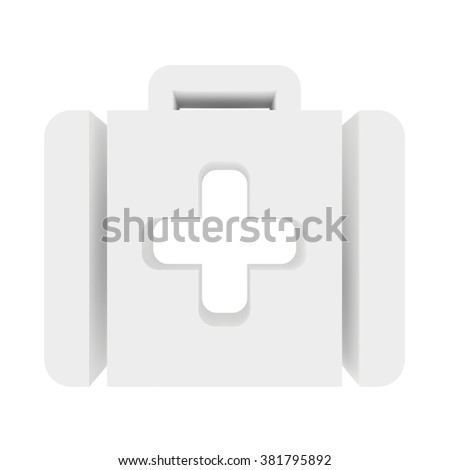 icon plus on a white background. 3d render