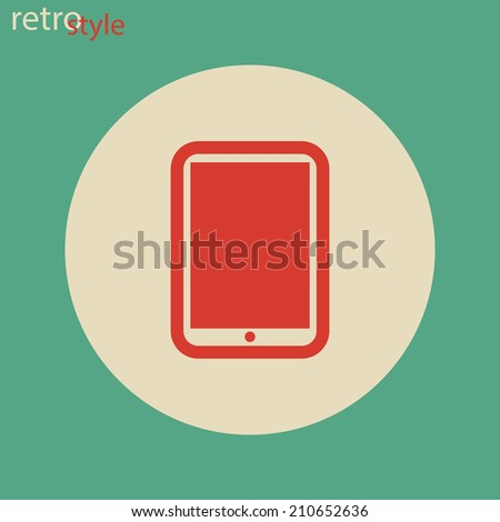 Icon. retro style - stock photo