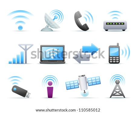 Icon Set - Communication - stock photo