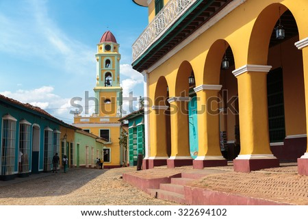 Iconic and beautiful Tower in Trinidad, Cuba - stock photo