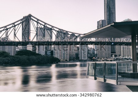 Iconic Story Bridge in the afternoon. Brisbane, Queensland, Australia