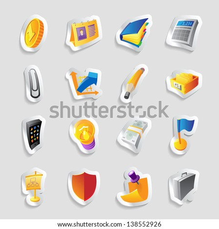 Icons for business and finance. Raster version. Vector version is also available. - stock photo