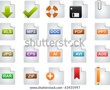 Icons for Web - stock photo