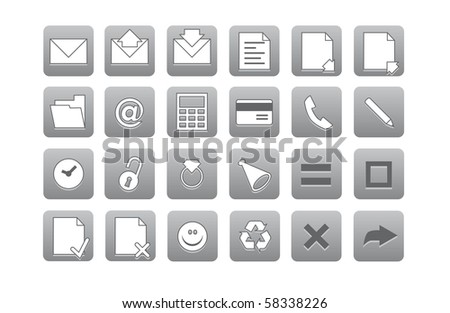 Icons for your computer desktop or design element - stock photo