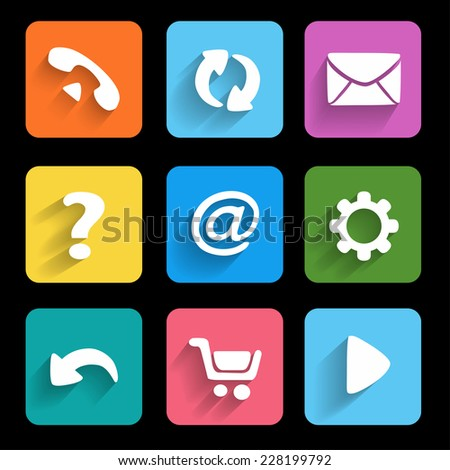 Icons. Metro style. Interface mobile applications - stock photo