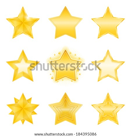 Icons of different golden stars