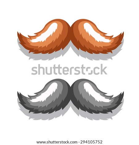icons retro mustache in an elegant style