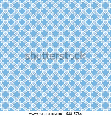 Icy blues and a modernized version of a traditional talavera tile make up this snowflake tile background with a lattice-like effect. Seamless file will tile perfectly in your design.  - stock photo