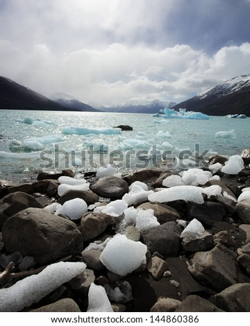 Icy Shore of a Cold Lake