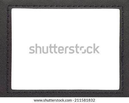 id card holder/leather id card holder with path  - stock photo