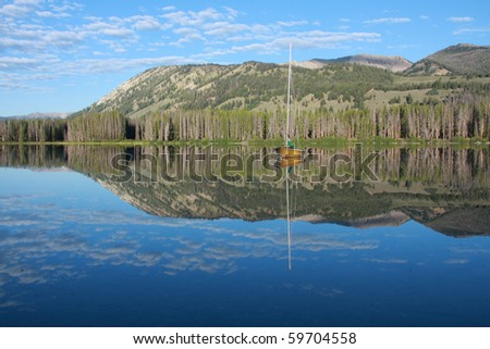 Idaho lake - stock photo
