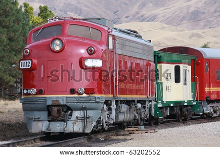 Idaho train - stock photo
