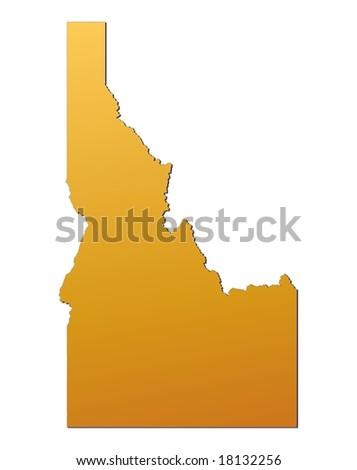 Idaho (USA) map - stock photo