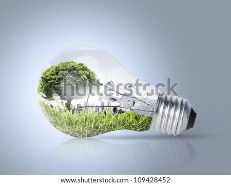 Idea ,a light bulb - stock photo