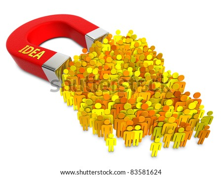 Idea attracts people - stock photo