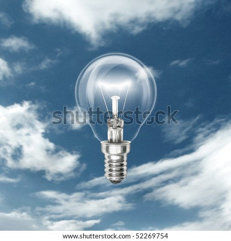 idea bulb isolated on different backgrounds with reflections - stock photo