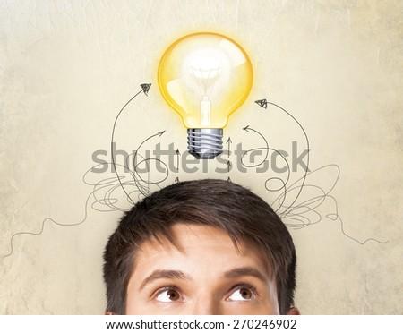 Idea, concept, business. - stock photo