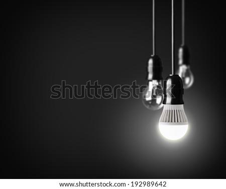 Idea concept on black - stock photo