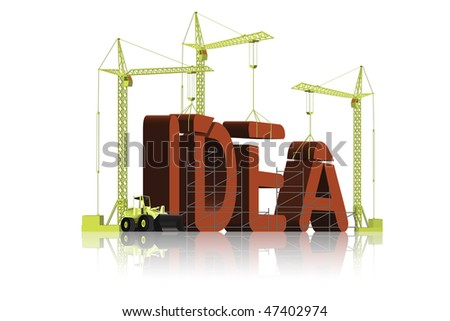 idea create invention get inspiration make solution creation red letters creative process brainstorming realize aspirations