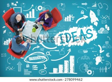 Idea Creative Creativity Imagination Innovate Thinking Concept - stock photo