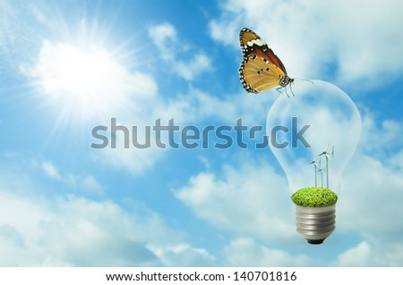 Idea for good environment. - stock photo