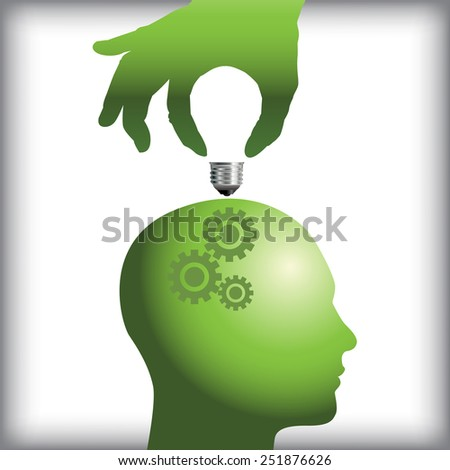 Idea from human thought process concept - stock photo