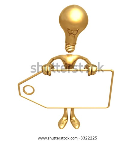 Idea Holding Blank Price Tag - stock photo